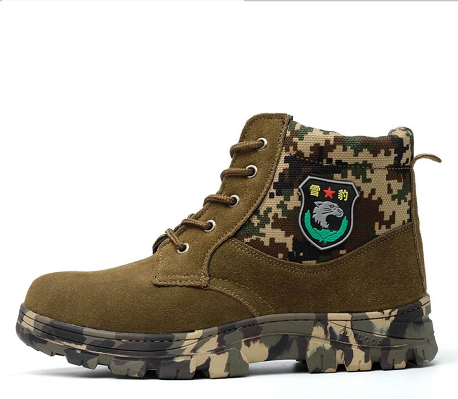 Warwolf Safety shoes Footware Ventilation Shock Absorber Durable Construction shoes Camouflage Green