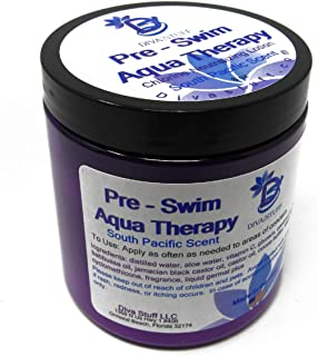 Pre-Swim Aqua Therapy Chlorine Neutralizing Body Lotion,Protects Skin From Chlorine and Salt Water, Fresh South Pacific Scent, By Diva Stuff