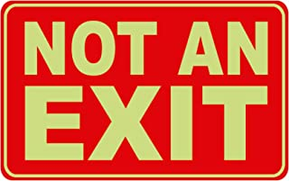 12 in. x 8 in. Glow-in-the-Dark Rectangular Plastic Not An Exit Sign