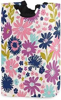 N\A Paniers de Rangement de Fleurs Sauvages - Grand Organisateur Pliable 22,7 x 12,6 x 11 Pouces, Panier pour Couverture d...