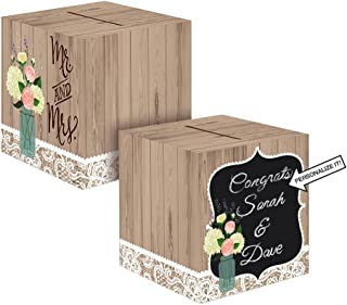 Creative Converting 088706 Rustic Wedding Card Holder Box (Single)