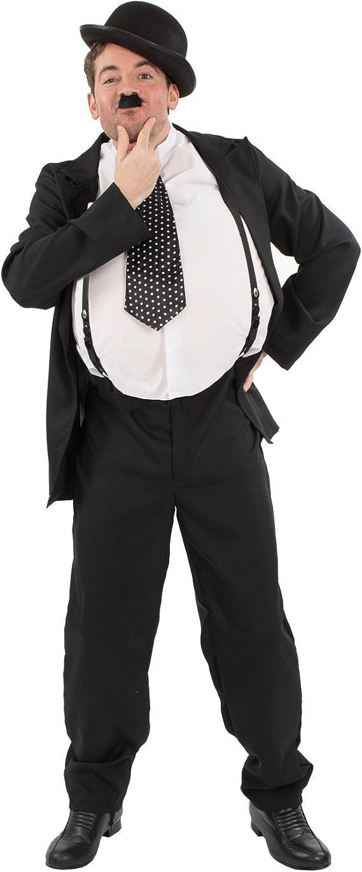 1920s Men's Costumes: Gatsby, Gangster, Peaky Blinders, Mobster, Mafia Orion Costumes Mens Oliver Hardy Stan Laurel Movie Film Fancy Dress Costume  AT vintagedancer.com
