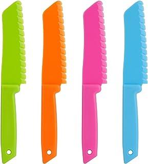 ONUPGO Ensemble de 4 couteaux de cuisine en plastique - Couteau en nylon Chef/Couteaux de cuisine pour enfants, Couteau à ...