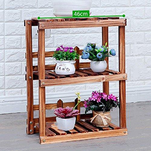 Ensemble de fleurs en combinaison Étagères en bois massif Salon Ensembles de rangement de cuisine Cadre de bonsaï intérieur L * W * H: 46 * 25 * 58cm ( Couleur : Blanc )