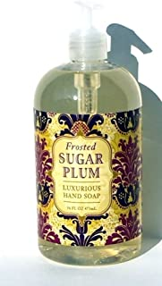 Greenwich Bay FROSTED SUGAR PLUM Hand Soap with Shea Butter, Plum Butter, Cocoa Butter and Vitamin E 16oz