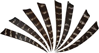 IRQ 5inch Natural Feathers Fletches for Archery Arrows Shield Turkey Fletchings Vanes Multi-Colors Left Right Wing