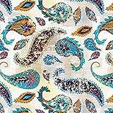 BOHO PAISLEY, Softshell Classic, 140 cm breit (+/- 5%), 320