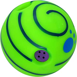 Fenteer Dog Giggle Ball Interactive Dog Toys Squeaky, Wobble Ball Giggle Ball Dog Toy Wab Gifts When it Moves Around for A...