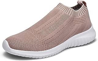 Women's Walking Sock Shoes Lightweight Mesh Slip-on- Breathable Yoga Sneakers