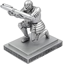 Resin Soldier Executive Knight Pen Holder - Personalized Desk Accessory Pen Stand for A Gift - Decorative Pencil Holders Desk Organizer