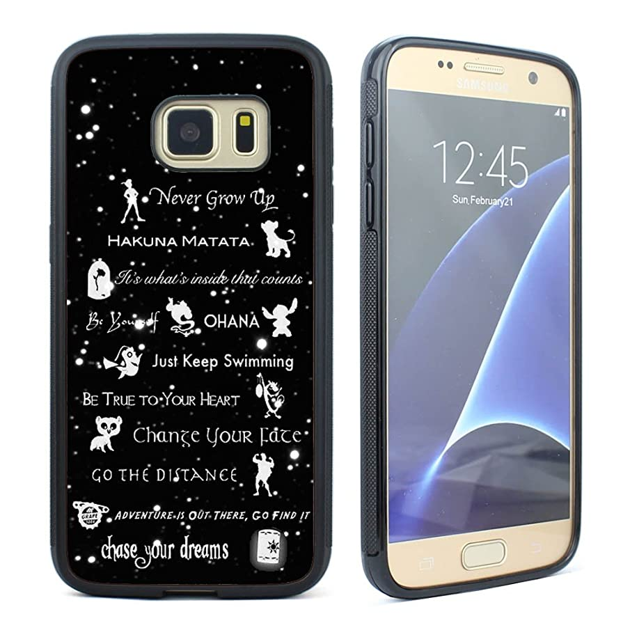VONDER Never Give Up Hakuna Matata Quotes Black Rubber Case Cover for Samsung Galaxy S7