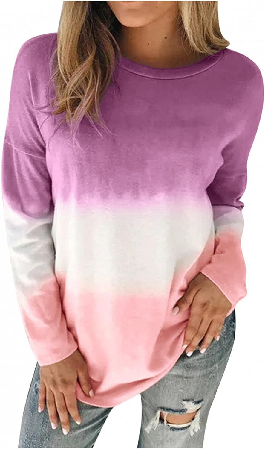 Sweatshirts for Women, Plus Pullover Oversized Vintage Graphic Long Sleeve Loose Sweatshirt Sweaters Tops Shirts