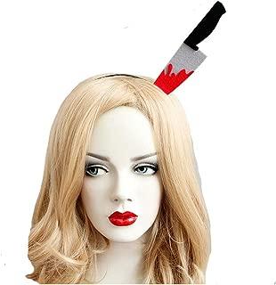 Women Hallowmas Kitchen Knife Headband Hallowmeen Spoof Tricky Lovely Hair Hoop Urchart (Black)
