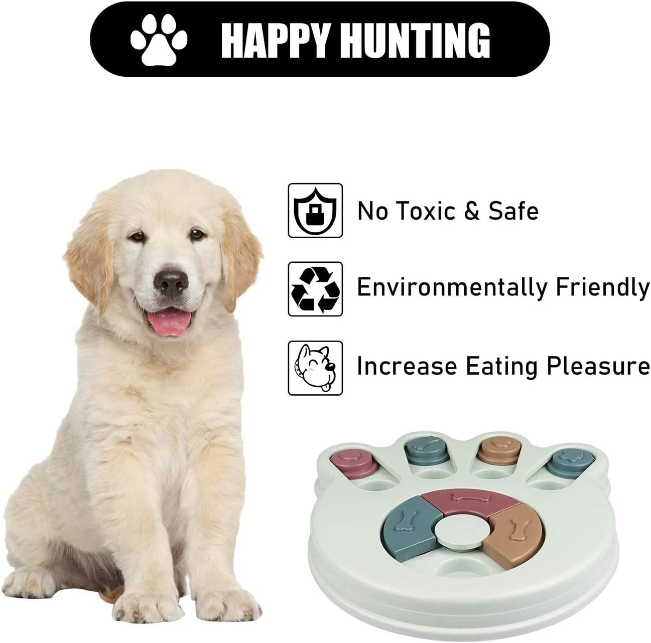 Improve Dogs IQ Blue Non-Slip Slow Feeder for Puppy Dogs Boredom Interactive Training Toy Box Dog Puzzle Slow Feeder Toy Creative Dog Smart Beginner