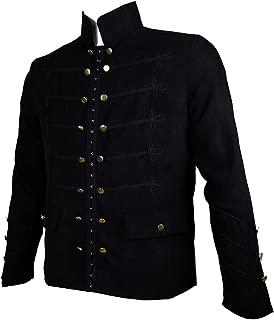 Men's Gothic Jacket Frock Coat Embroider Button Uniform Steampunk Victorian Costume