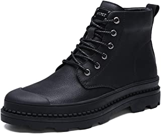 2019 New Arrival Men Boots Men's Ankle Boots, Fashionable Casual High-top Rubber Outsole Fleece Lined Martin Boots(Conventional Optional)