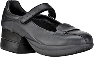 Z-CoiL Pain Relief Footwear Women's Sofia Slip Resistant Enclosed Coil Black Leather Mary Jane