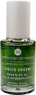 Intelligent Nutrients USDA Certified Liquid Green (Formerly Renewing Oil Serum) - Facial Serum for Redness and Oily Skin, Good for All Skin Types (1 oz)