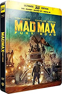 Mad max : fury road [Steelbook 3D - édition limitée] [SteelBook Ultimate Édition - Blu-ray 3D + Blu-ray + DVD + Copie digitale] (B010EFKOSS) | Amazon price tracker / tracking, Amazon price history charts, Amazon price watches, Amazon price drop alerts