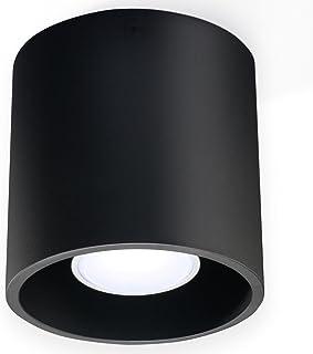 NOUVEAUTÉ ! Plafonnier noir pour cuisine et chambre – aluminium - SOLLUX ORBIS 1 SL.0016 lampe de plafond ronde moderne Lo...