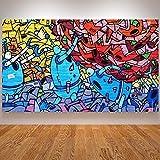 Banksy Kunstdruck Auf Leinwand,Abstrakte Farbenfrohe