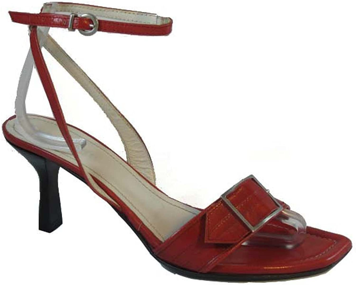 Romanelli Italian Women's Mid Heel Sandals 9402, Available in Red and Black