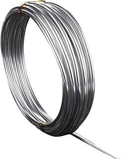 16.4 Feet Sliver Aluminum Craft Wire 3 mm Thickness Bendable Metal Craft Wire for DIY Crafts Making
