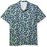 Columbia Trollers Best Short Sleeve Shirt Camisa, Lime Glow Spirits N Sails Print, 2X (Alto) para Hombre