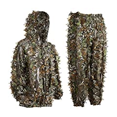 ღ BREATHABLE & COMFORTABLE - The ghillie suit is made from polyester,it's quite breathable and comfortable.Feels very soft,and wears super light(only 0.95 lb).This feels smooth to the skin so you can wear a T-shirt underneath. ღ MULTIFUNCTIONAL - It ...