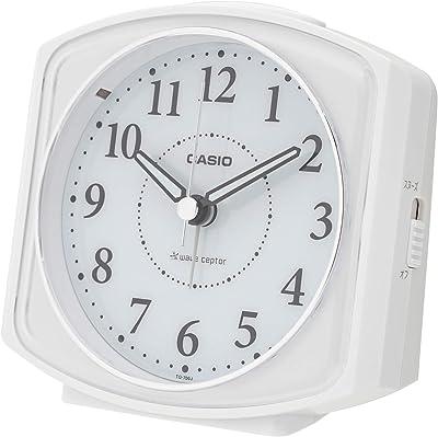 CASIO(カシオ) 目覚まし時計 電波 アナログ ライト 付き ホワイト 10.5×11.6×7.0cm TQ-700J-7JF