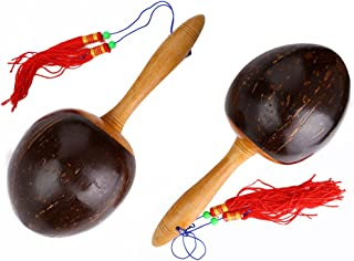 1Pair Wooden Maracas Rattle Shaker Percussion Musical Instrument