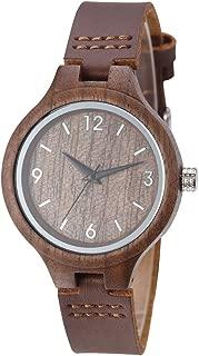 Women Wood Watch Elegant Quartz Movement Fashion Handmade Wooden Wrist Watches Girl