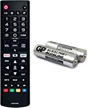 Best AKB75375604 Replacement TV Remote for LG TV 43UK6300PUE 32LK610BPUA 49UK6300PUE 55UK6300PUE 65UK6300PUE 75UK6570PUB 75SK8070PUA 55SK9000PUA 86UK6570PUB 43UK6250PUB with GP Alkaline 2 pcs Batteries Review