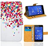 Sony Xperia Z3 Compact Handy Tasche, FoneExpert Wallet Hülle Flip Cover Hüllen Etui Ledertasche Lederhülle Premium Schutzhülle für Sony Xperia Z3 Compact