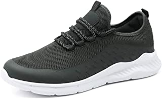 ZUAN Athletic Shoes for Men Sports Shoes Lace Up Style Mesh Real Lightsome and Flexible Solid Color