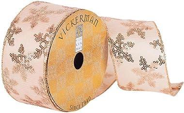 "Vickerman Ribbon, 2.5"", Rose Gold"
