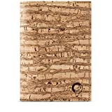 Cork Wallet for Passport, RFID Blocking Vegan Wallet for Men, Non-Leather Zebra Color