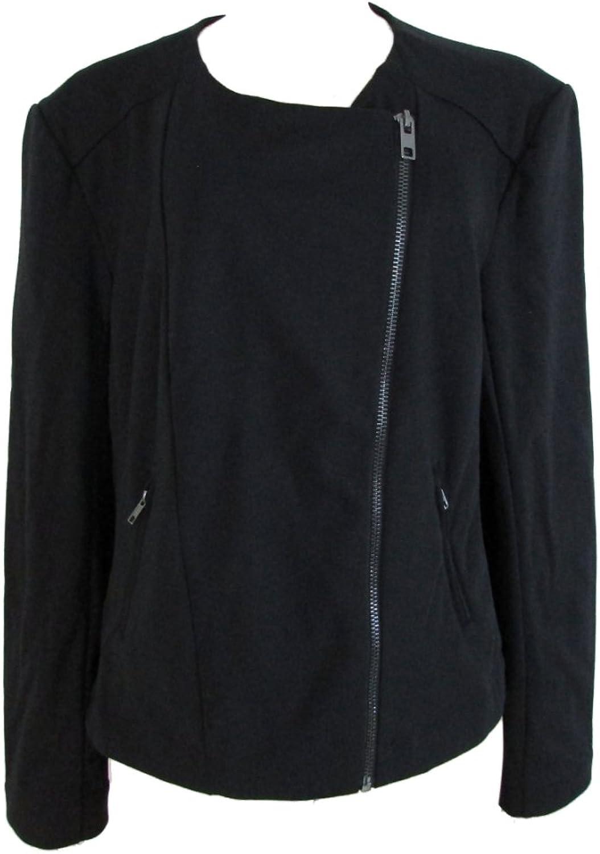 Catherine Malandrino Runway Style Women's Asymmetrical Coat Jacket Black