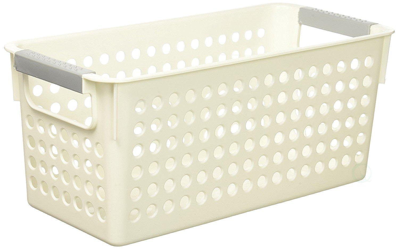 Basicwise QI003238 Rectangular Plastic with Shelf Hand Super sale Atlanta Mall Organizer