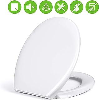 Amzdeal Tapa de wc, Asiento de inodoro con cierre suave y