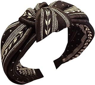 LOKODO Women' s Elastic Wide Hair Hoop Hairband Turban Knotted Hair Band Bandanas Headbands Hair Accessories