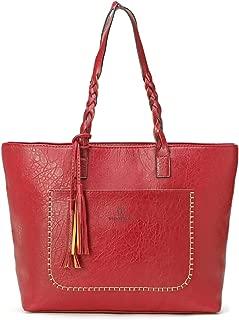 Women Vintage Tote Bag, OURBAG Ladies PU Leather Tote Shoulder Bag Handbag Purse Fashion Large Capacity Bag