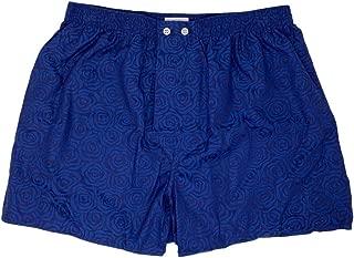 Mens Classic Fit Cotton Boxer Shorts Underwear, Paris 17 Navy