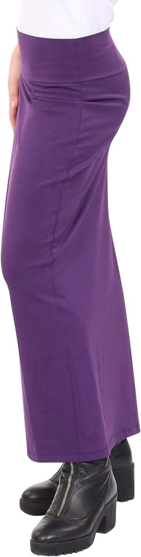 Kosher Casual Women's Modest Cotton Stretch Long Maxi Pencil Skirt
