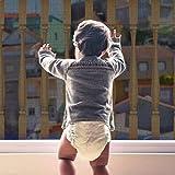 Yiomxhi Rete di Sicurezza per Bambini, Rete di Sicurezza per Balconi e Scale, Rete di Protezione Regolabile per Ringhiere per Scale per Bambini, Animali Domestici e Giocattoli (9.8Lx2.5H FT) Nero