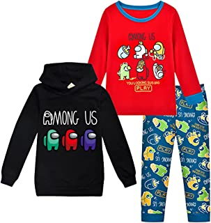 Kids Funny Among Us Imposter Long Sleeve Hoody T-Shirt for Boys and Girls Tees Tops Hoodies