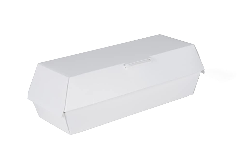 Southern Champion Tray 0717 Paperboard Foot Long Hot Dog Clamshell Container, 11-3/8