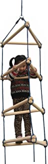 Swing-N-Slide NE 3023 Triangle Rope Ladder Swing Set Climbing Attachment with Ground Anchors, Brown