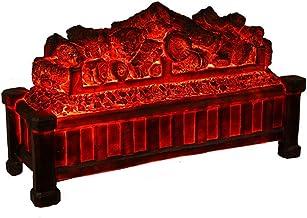BBZZ Chimenea eléctrica ornamental, chimenea de carbono desnuda, sin calefacción, estufa decorativa LED con llama ardiente 3D simulada. chimenea electrónica con efecto de combustión de carbono