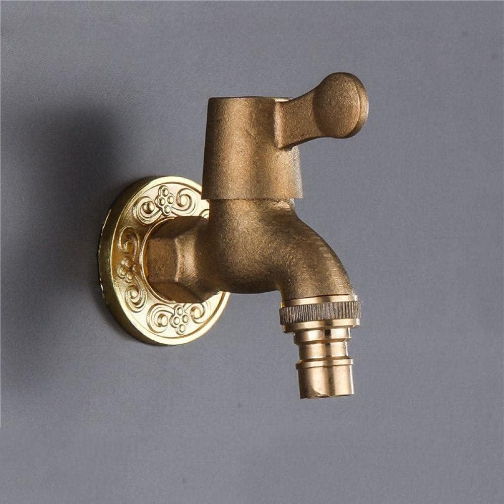 Antique Omaha Mall Brass Single Outdoor Albuquerque Mall Garden Faucet Wall-mount Water Cold
